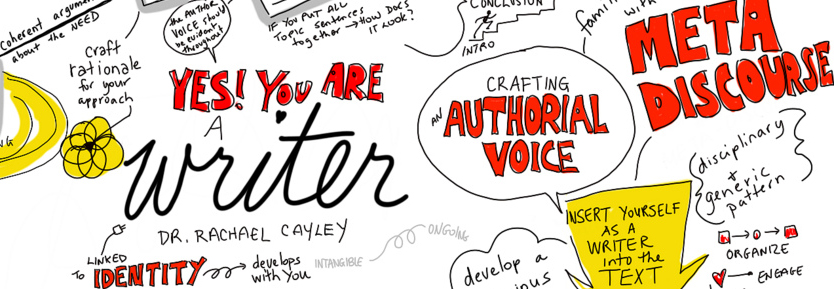 drawing from rachel caylay's talk. use your authorial voice and use meta discourse